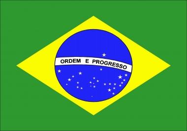 10000 website visitors from Brasil