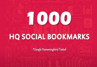 Add 1000 High Quality Social Bookmarks To Your Site