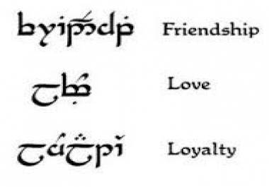 write your name or phrase in Elvish Tengwar script /  for