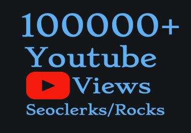 Add 100,000+ High Quality YouTube V iews & 500 Youtube Lik es