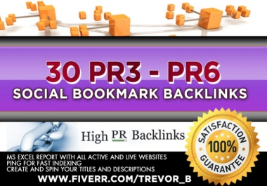 Manually Submit Your Site To 15 PR-3 To PR-6 Sites Manually for $1