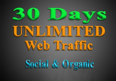 UNLIMITED organic & social WEB TRAFFIC