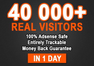 Real 40,000 + Web Traffic WORLDWIDE from Search Engine and Social Media for