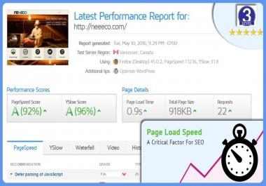 Do Advanced Speed Optimization for your Website (Cache, Compress, CDN, Optimize)
