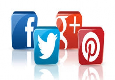 Social Signals --50+ FB 50 Tw 40 PIN  20 LINK Promotion as Social Bookmarkings
