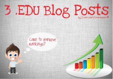 I will create 3 EDU Blog Posts