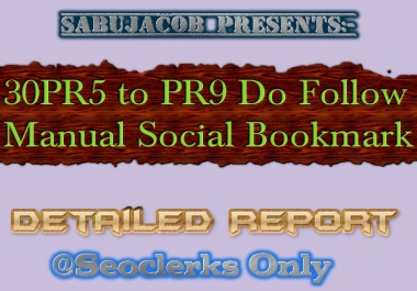 30 PR5 to PR9 Do Follow Social Bookmarks