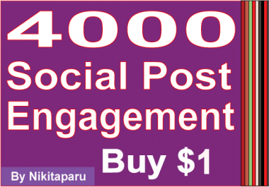 Get Fast 1000 social media engagement