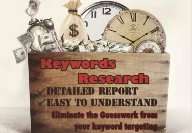 I will run in Depth keyword research