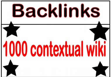 I will Submit Your site 1000 Contextual Wiki Backlinks