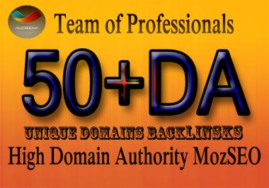 do 50 links High Domain Authority 50 Plus MozSeo