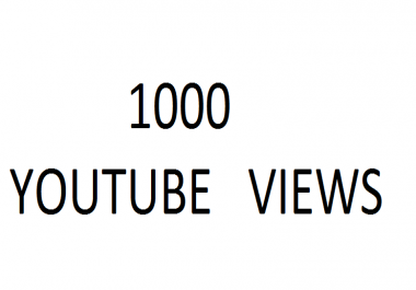 10000 Safe Youtube Views - Quick Delivery