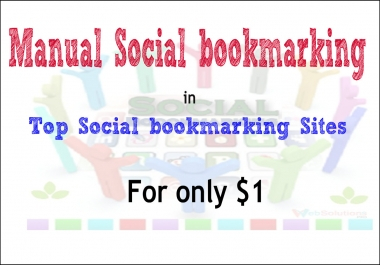 Instant manual bookmarking links from top 24 Social bookmarking sites - Report within 24 hours