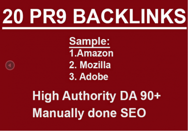 I will do PR9 SEO backlinks dofollow