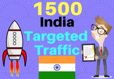 7500 INDIA TARGETED Human traffic to your web or blog site. Get Adsense safe and get Good Alexa rank