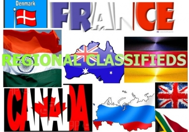 I will manually post 30 high page rank Local or regional classifieds for your business