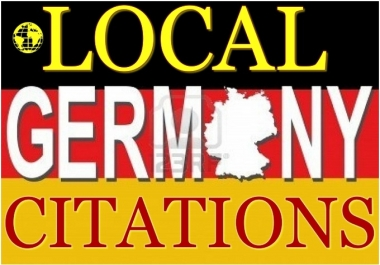 I will create 10 Local German citations for your business