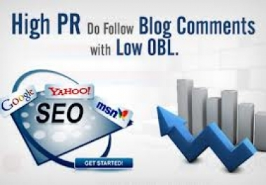 300 Pr2+ Actual Page Rank, Dofollow, High Quality Blog Commenting Backliink With LOW OBL