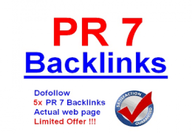 ****^^^^ I will get Your Website 5 PR 7 Backlinks @@##^^^^****
