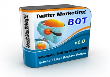 Automatic Twitter Marketing Software Auto Tweet, Re-tweet, Replay, Like, Follow