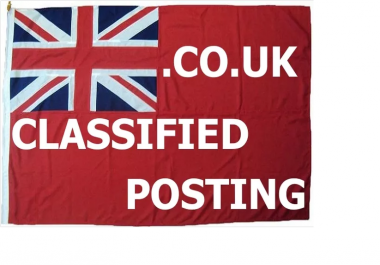 online advertise your business to 1 UK Classified ads