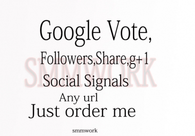 I Will give you 401 + REAL Google Plus votes Only