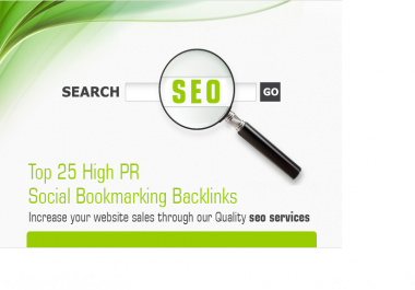 provide 25 High pr 8 to pr 4 social bookmarking backlinks