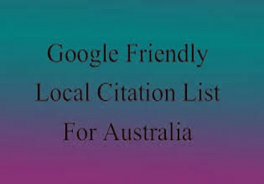 provide you with a highly relevant, local business friendly, Google rank boosting list of citation a
