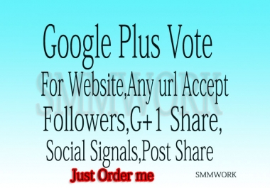 I Will give you 210 permanent usa google plus votes or 100 follows or circles Only