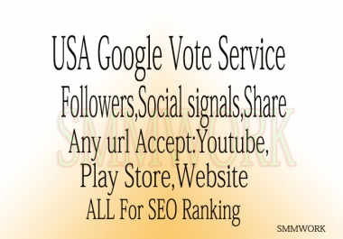 I Will Provide U 250+ REAL USA  Google +1 Plus Vote Shar Only