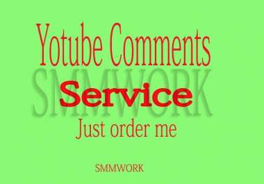 Give you real & permanent 105 YouTube video comments Only