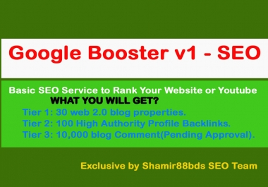Google Booster v1 - 10,130 Link Pyramid to Google Page 1