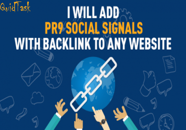 50 PR9 Social Signals and promotion to 1 Million people, the most Effective SERP, SEO and Traffic Boost campaign