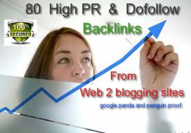 Provide 80 Contextual Do Follow High PR backlinks from web2 blogging sites