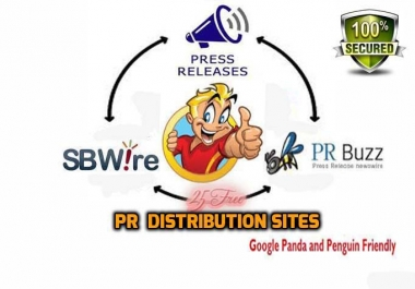 submit Your Press Release to 25 free PR Distribution sites