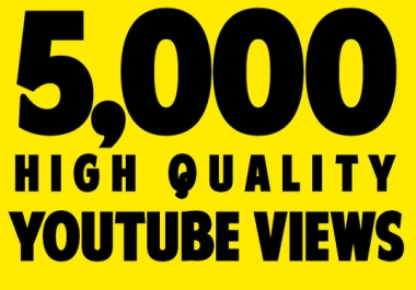 Give You 5000+ NON Drop High retention views