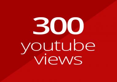 300 high quality YouTube views