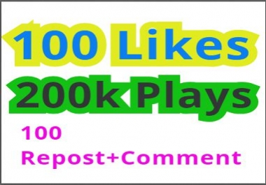 Get high retention Audio Music 20k Play,100 Llkes,100 Rep0st,100 C0mments