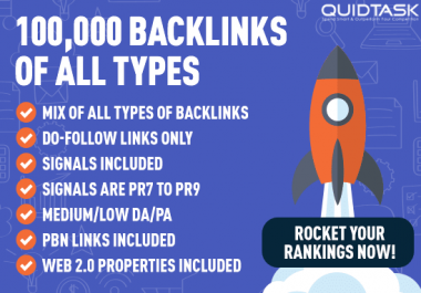 100,000 Signals & Backlinks with Video Creation from Social Networks and PBN of Highest Quality and Authority including Traffic Analytics and detailed report