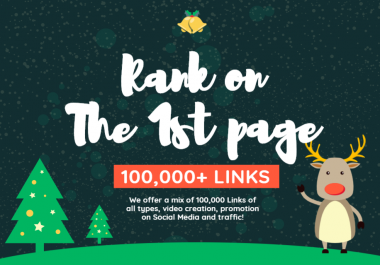 Rank on 1st PAGE 100,000 Signals, Backlinks, Video Creation - Top Social Networks and PBN of Highest Quality and Authority Used including Traffic Analytics, Groups Promotion and report