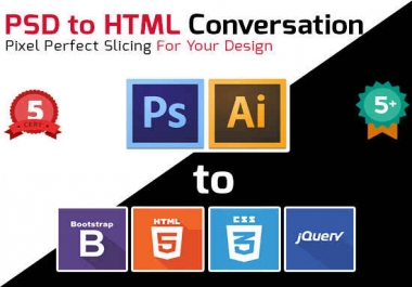 I Will Convart PSD to Responsive HTML5 / CSS3