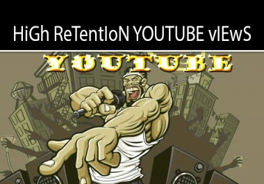 more than 10 000 GEO Targeted Organic Retention Youtube Views! Go viral on Youtube!
