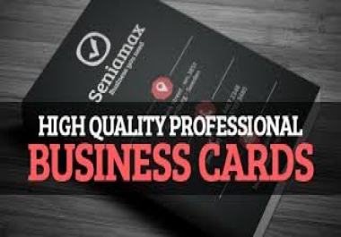 design High quality professional Business card..