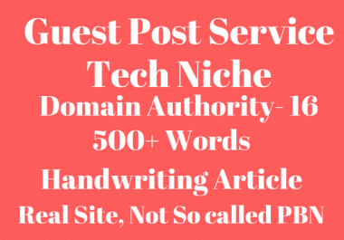 Guest Posting on Tech Niche- Real Site