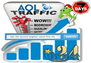 Daily keyword targeted visitors from AOL for 7 days