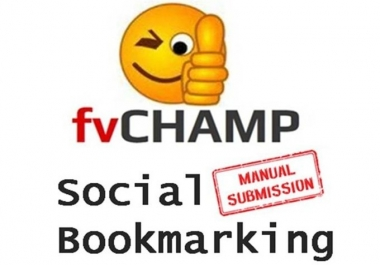 I will submit your site or blog MANUALLY to 20 Social Bookmarking sites PR4 to PR8
