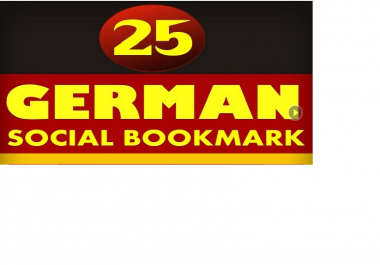 do 25 manually submissions to pr 2 to 10 German social bookmarking sites