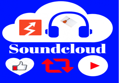 Get 5000 Non-Drop Soundcloud Plays,40 Likes,40 Repost and 5 Comments