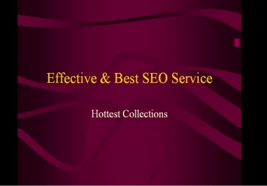 Effective & Best SEO Service