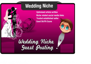 write and Submit a Guest Post on a WEDDING Niche Website Moz